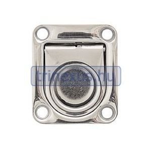 Fedélnyitó retesz rugós inox 65x55 mm LIN