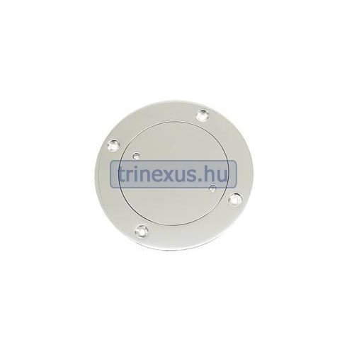 Tárolórekesz fedél, kör, inox 76 mm  LIN