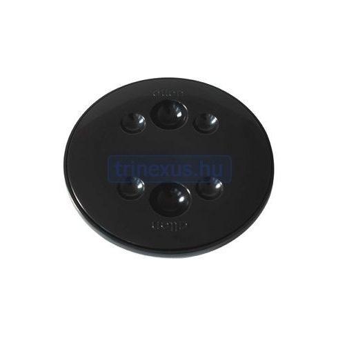 Tárolórekesz fedél, kör, műag 100 mm fekete LIN