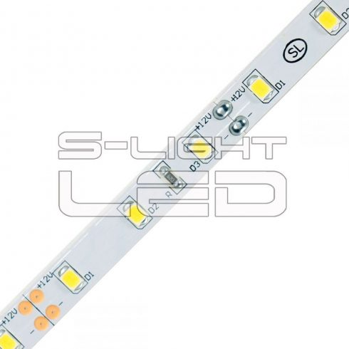 SL-3528WU120 S-LIGHTLED SZALAG 120 LED/méter szilikon bevonat 3000K IP65