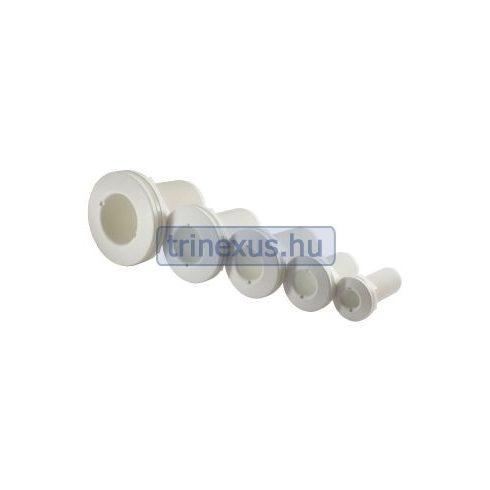 Vízkivezető testen át fehér 1/2 col, 21,3 mm LIN