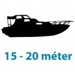 15 - 20 méter közötti hajótest