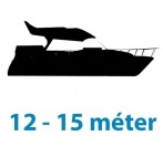 12 - 15 méter közötti hajótest
